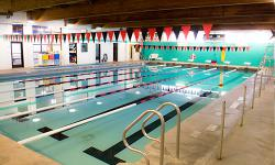 Indoor course at YMCA pool